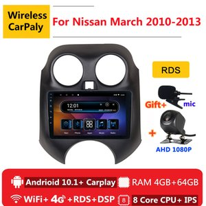 2 din 8 core android 10 car radio auto stereo for March K13 2010 2011 2012 2013 navigation GPS DVD Multimedia Player car dvd