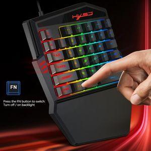 35 Tasten Gaming-Tastatur Mechanische Tastatur-Hintergrundbeleuchtung Gaming Key-Pad Handys Spiel Zubehör für Gamer
