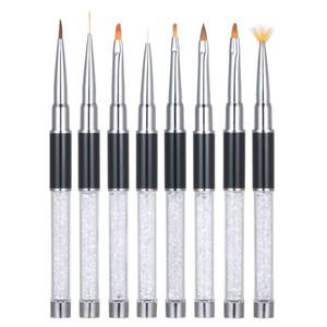 5 8 12pcs Nail Brush Kit Nail Art Design Painting Drawing Polish Brush Pen Tools Art Brushes Set Salon