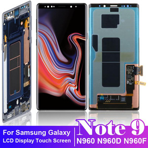 Original SUPER AMOLED 6.4'' For SAMSUNG GALAXY Note9 N960 N960D N960F With Frame LCD Touch Screen Digitizer Assembly Replacement