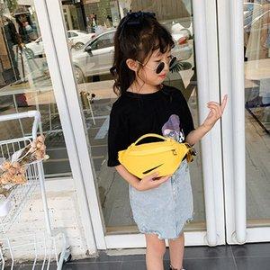Çanta Erkekler Kızlar Katı Renk Messenger Çanta Çocuk Yeni Kanca Desen Bel Çantası Çocuk Moda Tasarımcısı All-maç Çanta çocuk