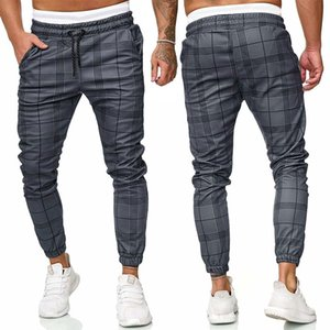 Ekose pantolon erkekler rahat pantolon koşucuların hip hop streetwear eşofman moda pantolon harem erkek erkek pantolon CX200824