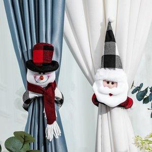 Christmas Decoration Home Hotel Curtain Buckle Cartoon Santa Snowman Doll Buckle Window Showcase Ornaments Christmas Gift lxj128
