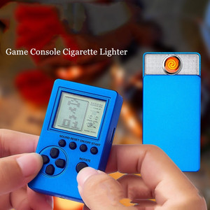 Creative Electronic USB Game Console Lighter Rechargeable Tungsten Heating Lighter Metal Cigarette Cigar Lighter Funny Gadgets For Men