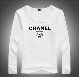 Freie Anlieferung, 2020 hochwertige Baumwolle neue O Kragen Langarm T-Shirt Marke Baumwollfrauen Klage 4 Farbe beiläufige Art und Weise Sport-T-Shirt