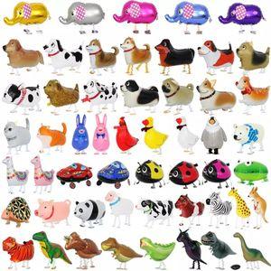 풍선 동물 헬륨 알루미늄 호일 풍선 만화 공룡 풍선 어린이 장난감 생일 웨딩 파티 FWC1289 용품