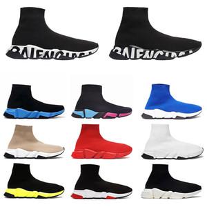 Balenciaga Socke sportlich chaussures Geschwindigkeit Trainer schwarz weiß triple schwarz Mode Stiefel Sport Designer-Sneaker Trainer Schuh