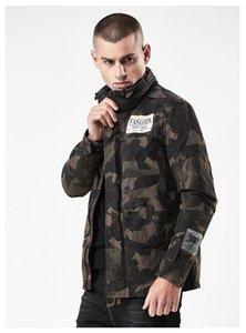 Жакеты Street Мужская куртка Камуфляж Mens конструктора Куртки Мода тонкий знак патч Designs Zipper Fly Jean