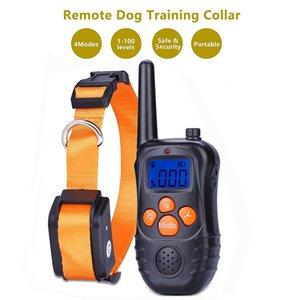 Télécommande Pet Dog gros électrique rechargeable réglable Vibration Signal sonore statique choc COLLIERS L-0008