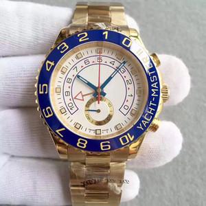 CAIJIAMIN-MENS Saatler 116681 44mm İki Ton Gül Altın Paslanmaz Çelik erkek Otomatik Mekanik Saatler Büyük Arama Chronograph Su Geçirmez