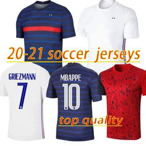 2020 2021 2 نجوم كرة القدم بالقميص maillots دي كرة القدم مايوه يكيب الفرنسية دي 20 21 MBAPPE GRIEZMANN كانتي POGBA مايوه دي القدم