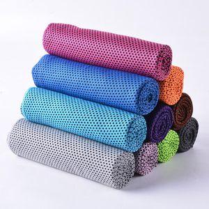 Cómodo hielo frío toalla gimnasio gimnasio deportes ejercicio rápido seco enfriando toalla verano transpiración al aire libre evaporación toalla de mar envío dda388