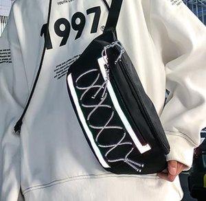 2020 Ins Tooling Stil Persönlichkeit Reflective Seil Unisex Gürteltasche Brusttasche Port-Stil Street Beat Messenger Bag