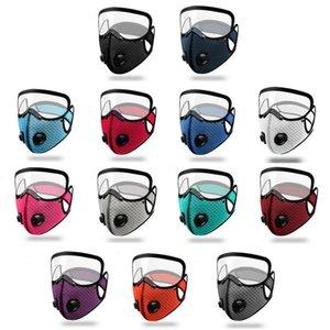 Double vanne Filtre activé par la poussière anti-poussière masque coupe-vent masque transparent masque anti-brouillard masques masques de concepteur T9I00486