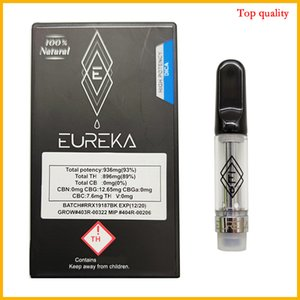 Forma Diamante Packaging Eureka cartucce di ceramica Coil 0.8ml nessuna perdita atomizzatore umida vapes carri Vape penna roccia lunare
