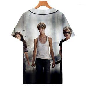 T-Shirt Sommer 3d Baseball Tees Kurzärmlig Schule Tops Terminator Dunkles Schicksal T-Shirts Herren-Designer