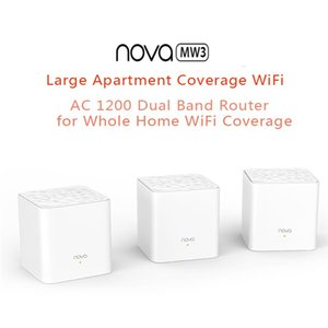 Tenda Nova MW3 AC1200 1200Mbps Wave IEEE802.3 IEEE802.3u Mu-Mimo Whole Home Wi-Fi Mesh Extender System Dual-band Wireless Router
