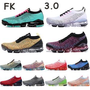 FK 3.0 mujeres de los hombres zapatos de playa al sur noble rojo vivo hierro gris púrpura blanco negro rosa atardecer tinte zapatillas de deporte de múltiples mosca ejecutan