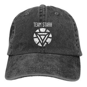 Verão Tampão da equipe Stark - Hip Guerra Civil Hop Cap Marvel Homem de Ferro chapéu de vaqueiro boné