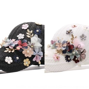 mCqDr New women's spring sun summer hollow-out flower breathable shade fashion all-match Korean style sports baseballcap Hat and baseba cZpb3