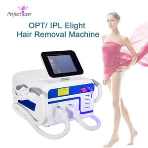 2020 Two handles good effect hair removal machine opt shr ipl elight acne treatment beauty machine