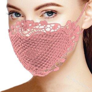 2020 viso maschera adulti comode maschere stampati personalizzare pizzo multicolore poliestere optionalrose fiore strisce protezione solare resistente alla polvere maschera