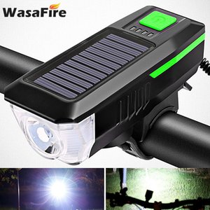 Solar Power Bike Front Light with Horn USB Rechargeable Bicycle Light T6 LED MTB Headlight Riding Head Lamp Cycling Lantern