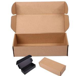 23x9x6cm&25x10x6cm Brown Corrugated Paper Box Aircraft Carton Gift Packing Box Sock Package Hard Gift Custom Logo 10pcs lot