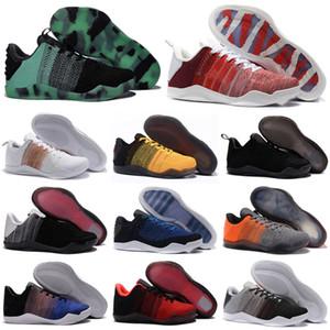 Haute qualité Mamba 11 Hommes Elite Basketball Chaussures Tinker Hatfield Bruce Lee FTB White Horse Achille Talon Rouge 11s Sport Chaussures Taille 40-46