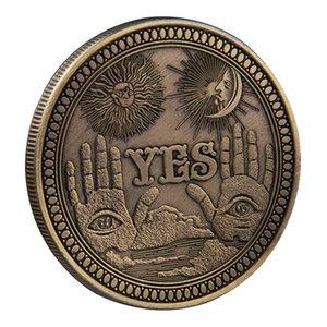 Решение монет Декорация Да Нет всевидящий глаз Death Angel Gothic подарок