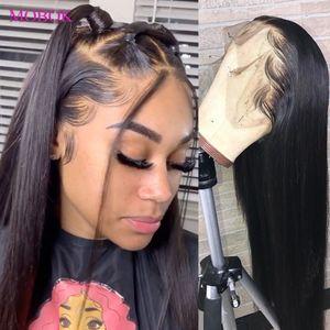 Commercio all'ingrosso 13x4 diritta dei capelli umani parrucche brasiliana diritta frontale parrucca 360 Frontal del merletto parrucca di Remy 150% diritta parrucca anteriore del merletto