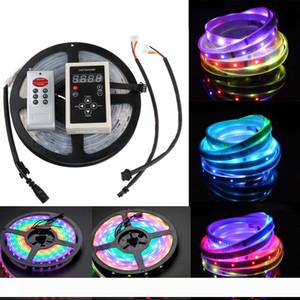 5m 6803 IC 매직 꿈 색 LED 스트립 5050 6803 RGB LED 스트립 빛 방수 133 매직 꿈 색상 6803 리모콘