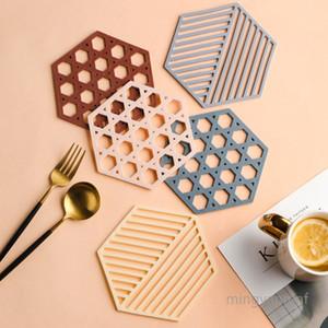 Louça Isolamento Mat Cup Coaster termo-isolante bacia Pad alta resistência ao calor Pot Holder para pratos quentes MY-inf0195