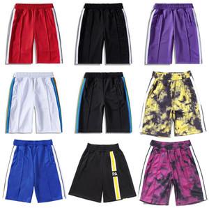 20SS Palm Angels stampa lettere strisce arcobaleno casuali pantaloni uomo a cinque punti Pantaloncini firmati 2020 Pantaloncini da spiaggia