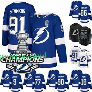 Tampa Bay Lightning 2020 Stanley Cup Champions Jersey Steven Stamkos Johnson Point Palat Kucherov Hedman McDonagh Vasilevskiy Hockey maglie