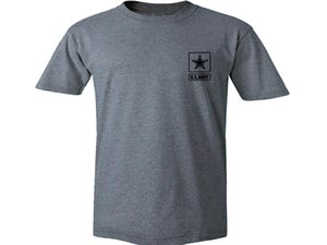 2019 Army Emblema Militar gris gráfico 100% algodón de los hombres Nueva camiseta