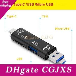 3 В 1 Тип -C Micro USB OTG Card Reader Flash Drive High -Speed USB2 +0,0 Универсальный Tf / Sd карты для телефона компьютера Extension Headers
