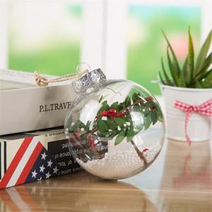 Piccoli doni di Natale a sfera ornamenti Decorazioni di nuovo anno trasparente sfera vuota bambini Ball Restaurant Bar Decorazioni in magazzino
