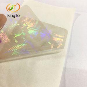 precio de fábrica a la medida de superposición holograma transparente PET tarjeta de etiqueta de holograma