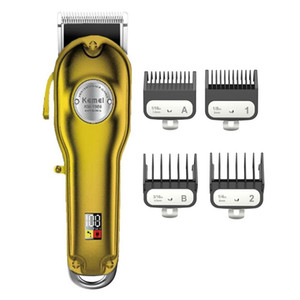 high quality professional clipper all-metal rechargeable hair trimmer for barber men electric beard shaver hair cutting machine