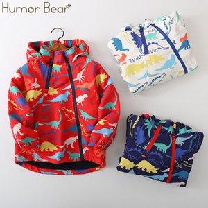 Humor Baby Bear Moda exterior Velvet Jacket Meninos Crianças Jacket Outono Inverno Meninas dos desenhos animados com capuz roupas