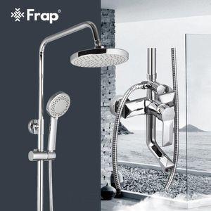 F2418 ducha Mezclador de ducha Set de la manija de grifo de baño 1 de la mano Grifo Set Frap precipitaciones rociador solo baño con conjuntos pared QkNRf