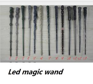 Magia LED Wand 17 estilos Light Up Harry Potter Hermione Cosplay Magic Wand Halloween Xmas crianças presentes favor de partido prop