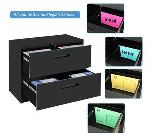 Fast Fashion File nave TREXM serratura Heavy Duty laterale File Contenitore Metallo 2 Governo del cassetto Black 2 cassetto WF192106BAA