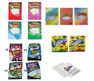 Heiße Ankunft Dank Gummies Chuckles Saure Gushers Errlli Mylar Bag Infundierte Reißverschluss Einzelhandelspaket Trocken Herb Tabak Candy Verpackungstasche