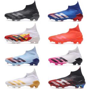 2020 Scarpe morsetti di calcio dei nuovi uomini Messi Predators Mutator 20 FG Calcio Nucleo Nero Bianco Active Red sport calcio stivali da uomo di calcio Scarpe