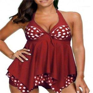 Womens Clothing 2 Piece Set Summer Polka Dot Printed Womens Designer Swimwear Sexy Plus Size Womens Swimsuit Fashion