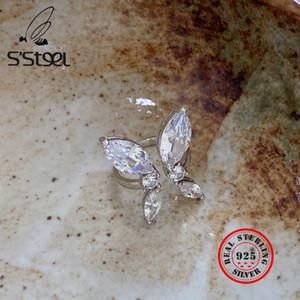 S'STEEL Butterfly Ring Geschenke für Frauen 925 Sterlingsilber Zircon-Partei Ringe Klassische Anillos Plata 925 Para Mujer Fine Jewelry