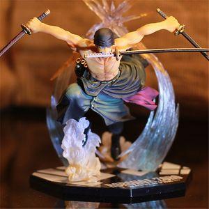 Anime japonês One Piece Roronoa Zoro Prisioneiro Ver. Ação PVC figura brinquedos roronoa zoro figura Decoração LJ200925 brinquedos modelo presente do miúdo