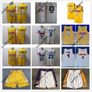 Mens Los AngelesLakersJersey LeBron James 23 Anthony Davis 3 Kyle 0 Kuzma Città Caruso 4 edizione Camicie pullover di pallacanestro